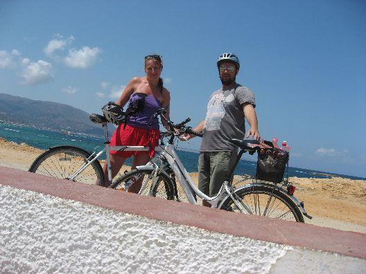 Zamieniliśmy się rowerami.